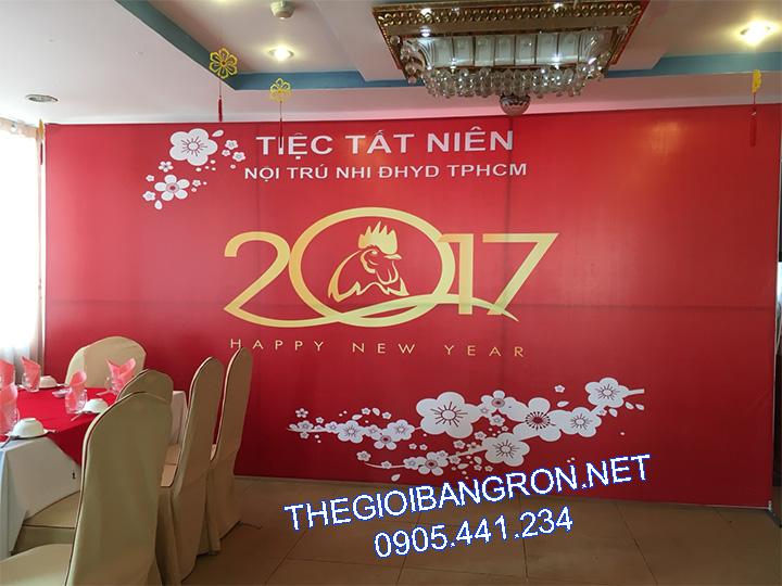 thi cong backdrop tet 2018